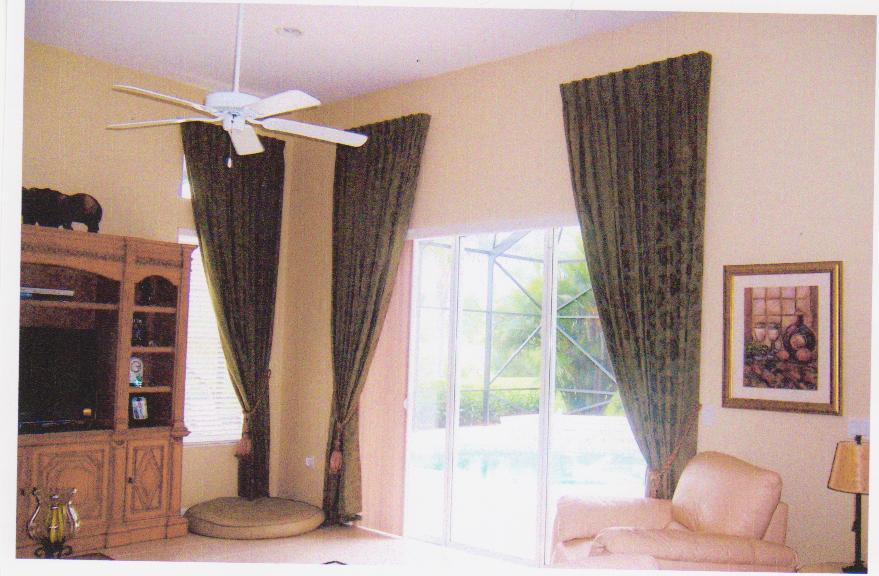 Custom drapes - Pinch Pleat Drapes on a hidden utility rod